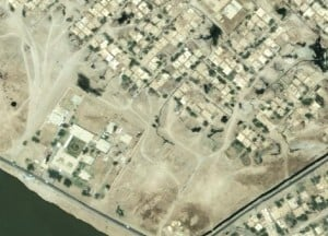 satellite image of informal road network