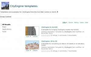 CityEngine Templates at ArcGIS Resource Center