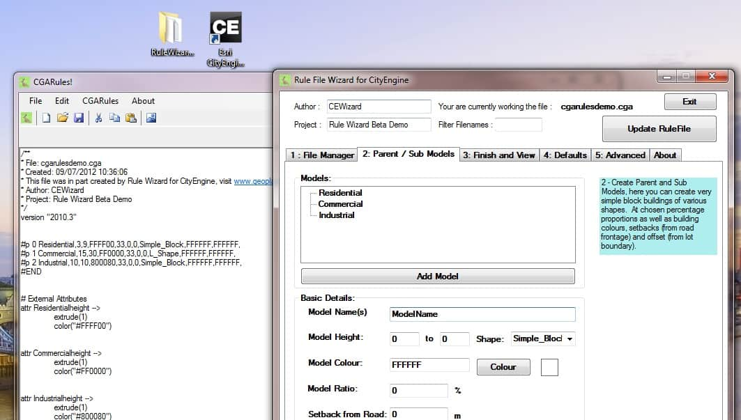 Download CityEngine Rule Wizard (no longer available