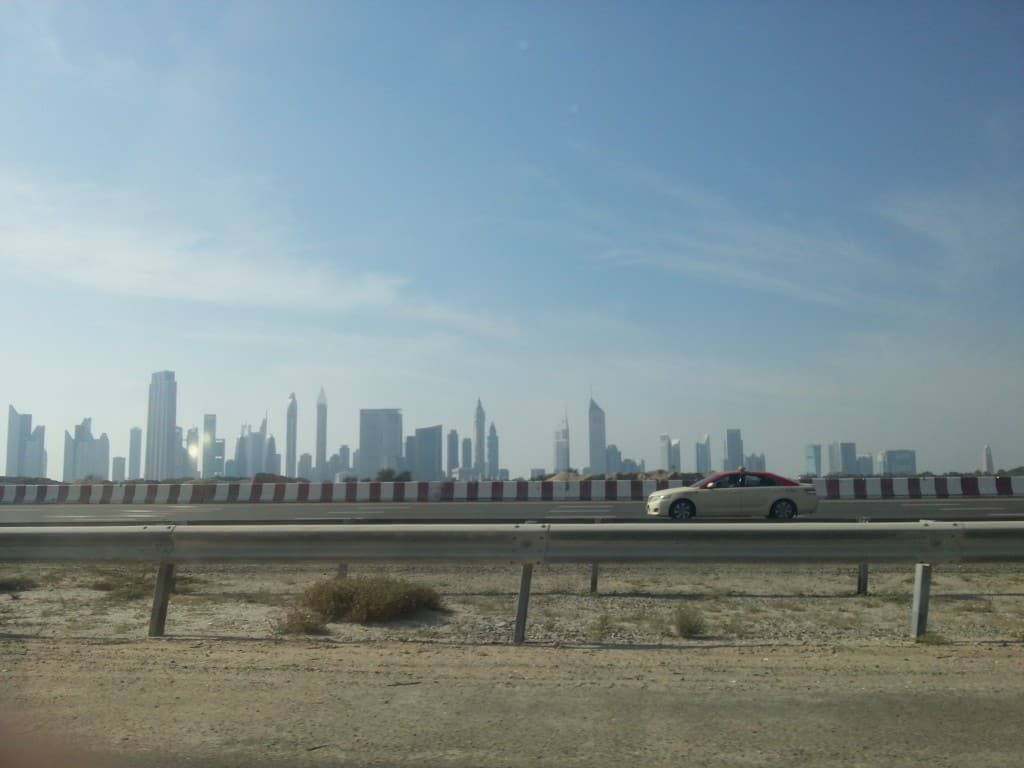 Dubai Skyline from the bypass