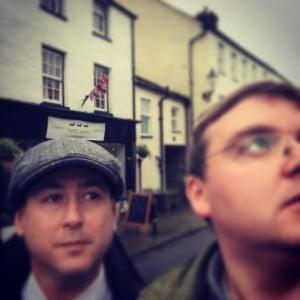 Nicholas Duggan and Elliot Hartley post Threeharescafe