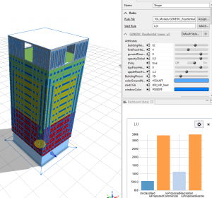 CityEngine tower analysis