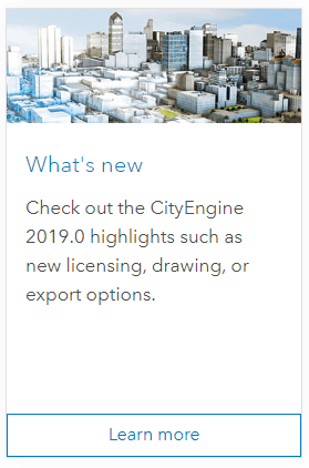 Esri CityEngine 2019 0 Official Release (incoming) - GeoPlanIT